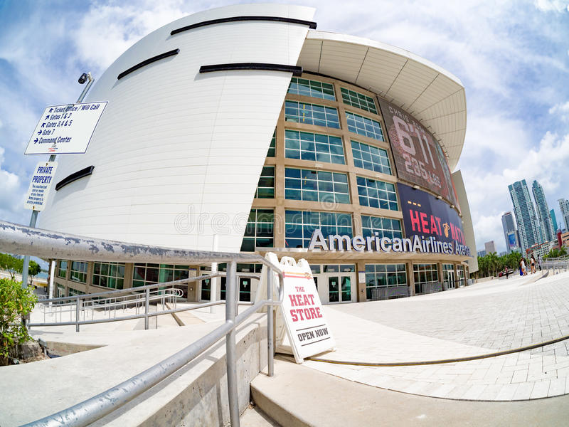 The American Airlines Arena in Miami royalty free stock photography
