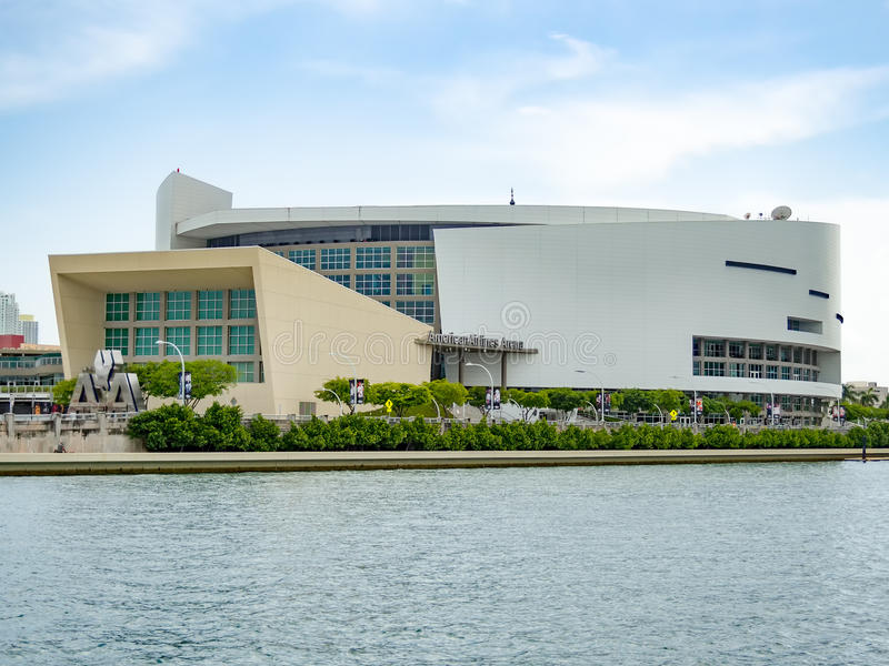 The American Airlines Arena in Miami royalty free stock photo