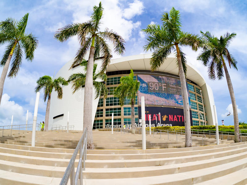 The American Airlines Arena in Miami royalty free stock images