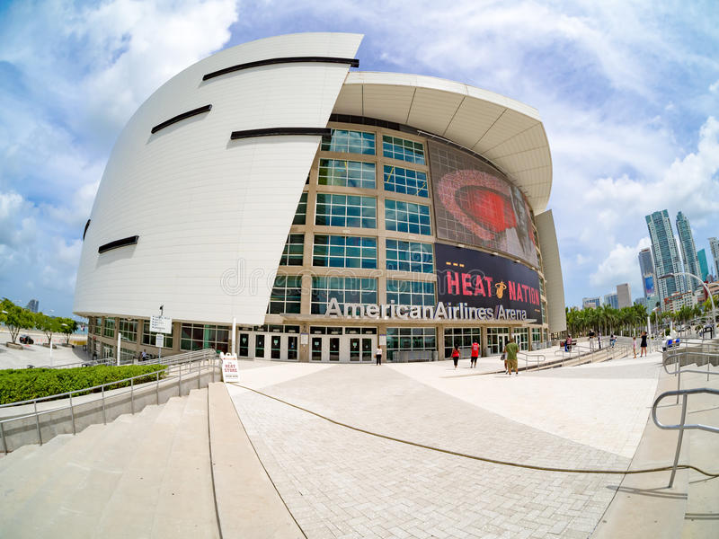 The American Airlines Arena in Miami royalty free stock image