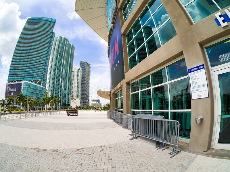 The American Airlines Arena in Miami royalty free stock photos