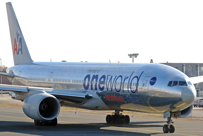 American Airlines B777 lizenzfreie stockfotografie