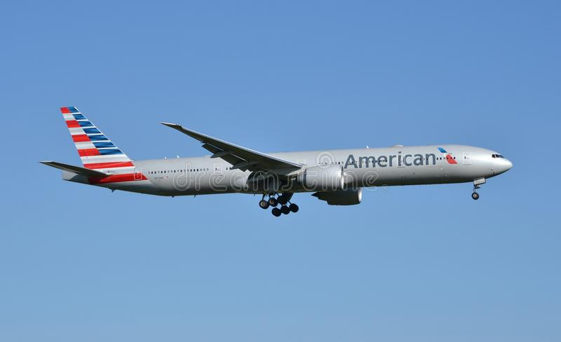 American Airlines Boeing 777 photographie stock