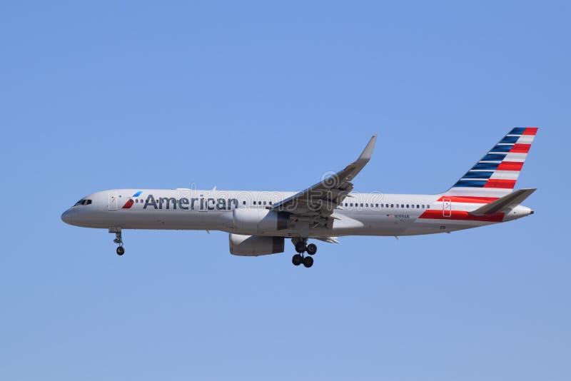 American Airlines Boeing 757 fotografia stock libera da diritti