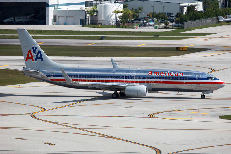 American Airlines Boeing 737-800 royalty free stock photo