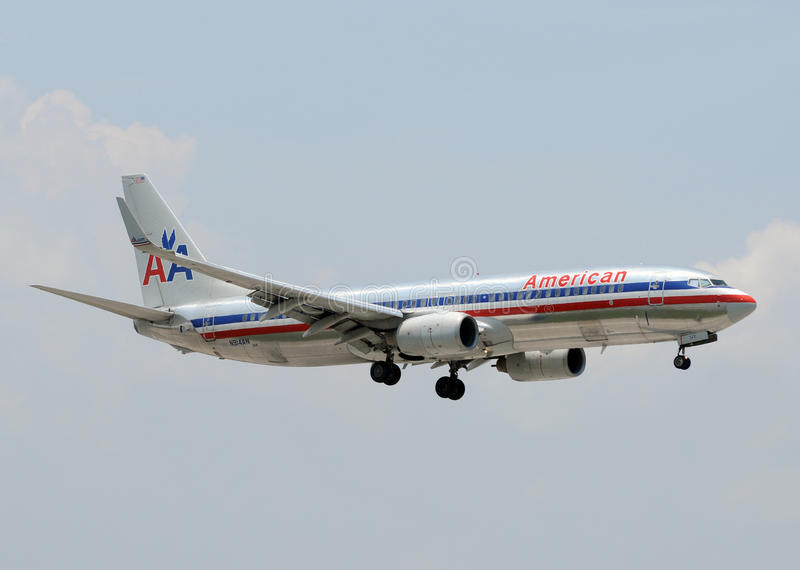 American Airlines Boeing 737 passenger jet royalty free stock photography