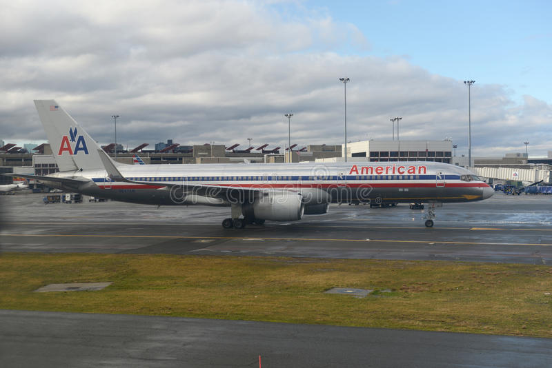 American Airlines Boeing 757 At Boston Airport Editorial