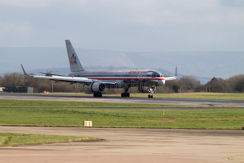 American Airlines Boeing 767 royalty free stock photography