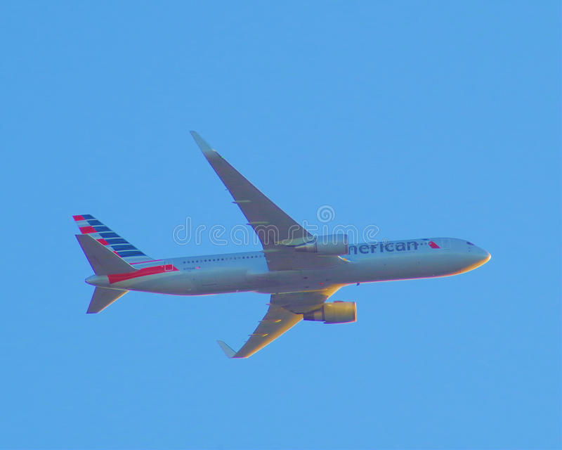 American Airlines Boeing 767 (N395AN) royaltyfri bild