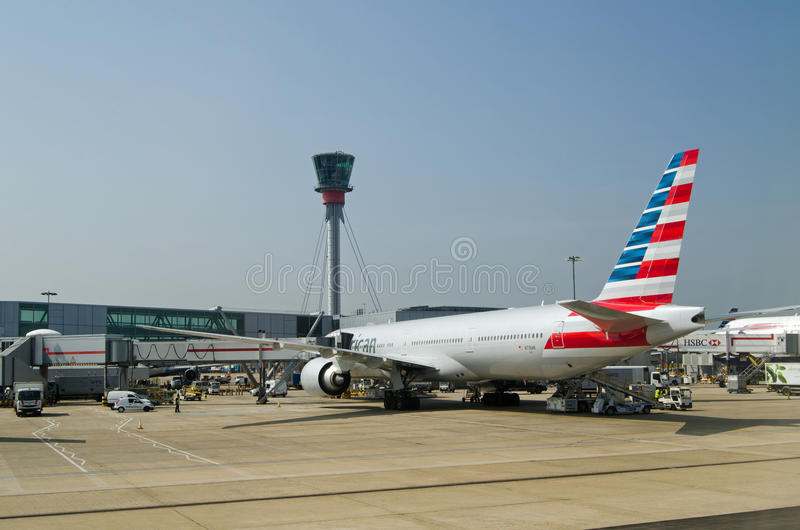 Download American Airlines Boeing 777 Plane At Heathrow Airport Editorial Stock Image - Image: 83723879