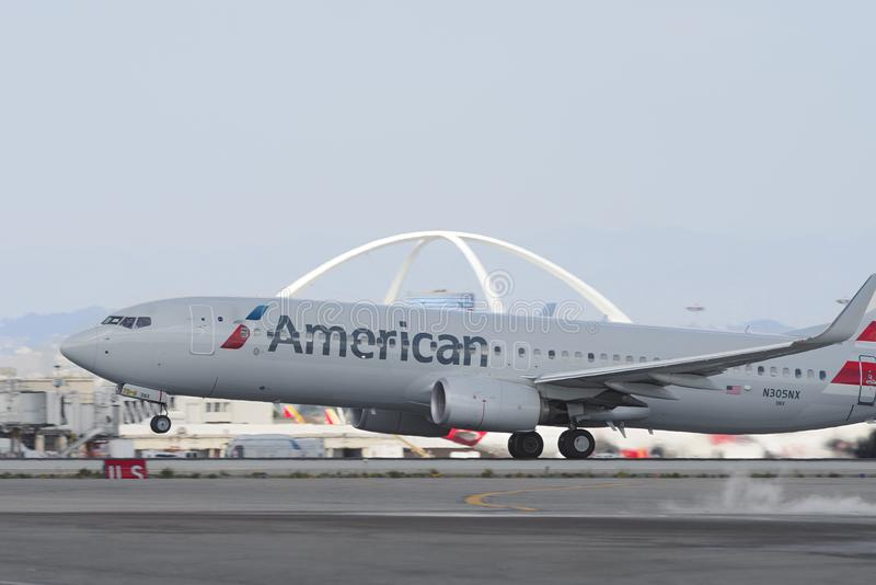 American Airlines Boeing 737 stock image