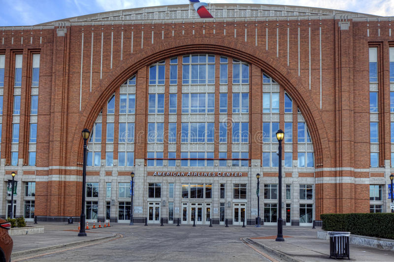 The American Airlines Center in Dallas royalty free stock image