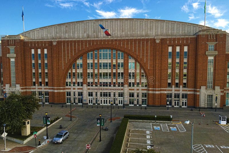 American Airlines Center in Dallas, Texas royalty free stock image