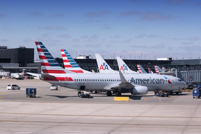 American Airlines stock photos