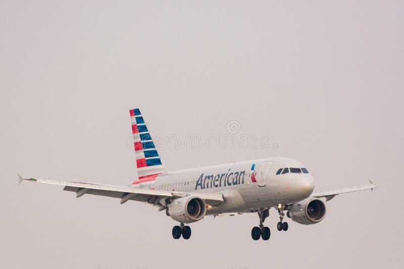 American Airlines echa en chorro fotografía de archivo libre de regalías