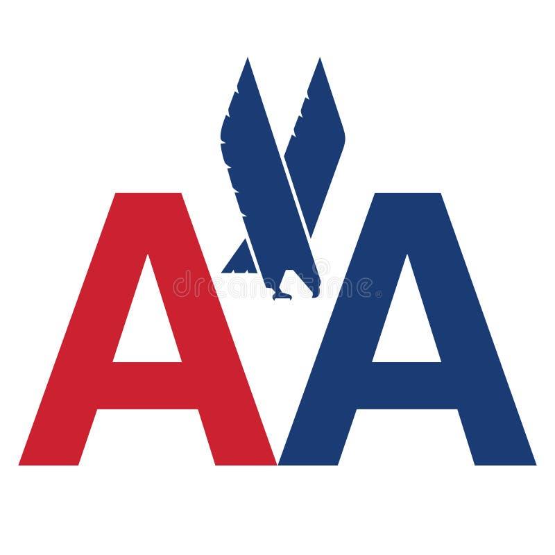 American Airlines-embleempictogram stock illustratie