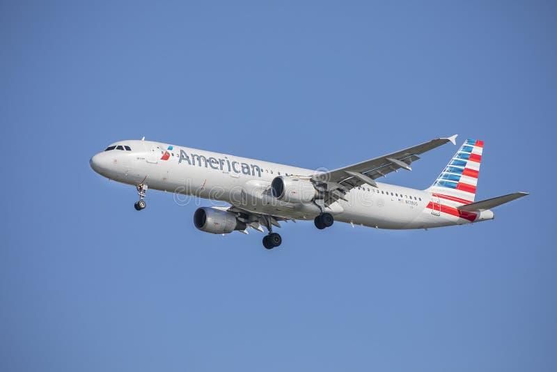 American Airlines flygbuss A321 royaltyfri foto