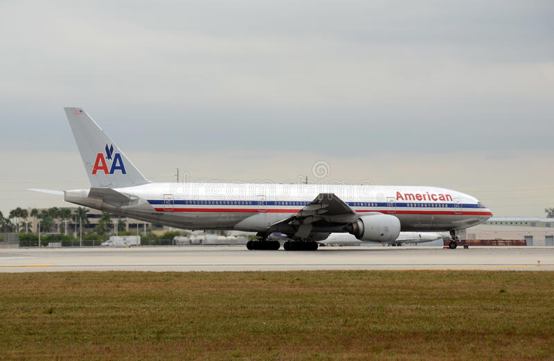 American Airlines heavy passenger jet stock photos