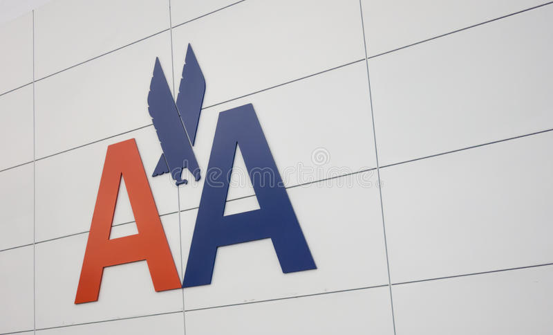 American Airlines logo obraz royalty free