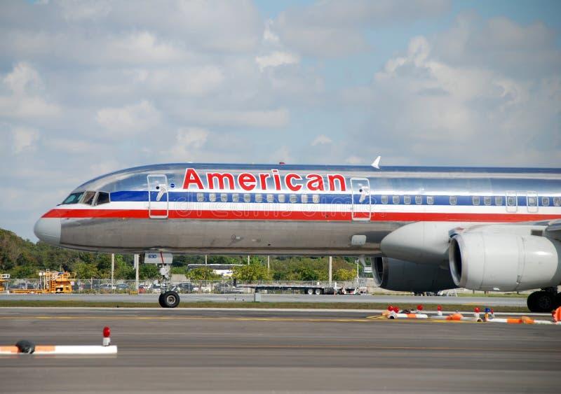 American Airlines passagerarestråle royaltyfria bilder