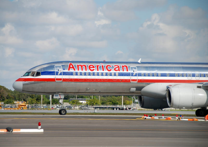 American Airlines passenger jet royalty free stock images