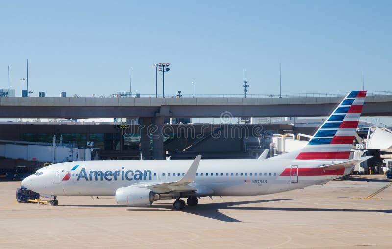 American Airlines scaturisce fotografia stock libera da diritti