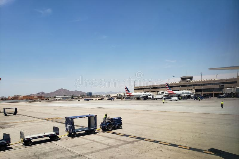 American Airlines in Sky Harbor, AZ stock photography