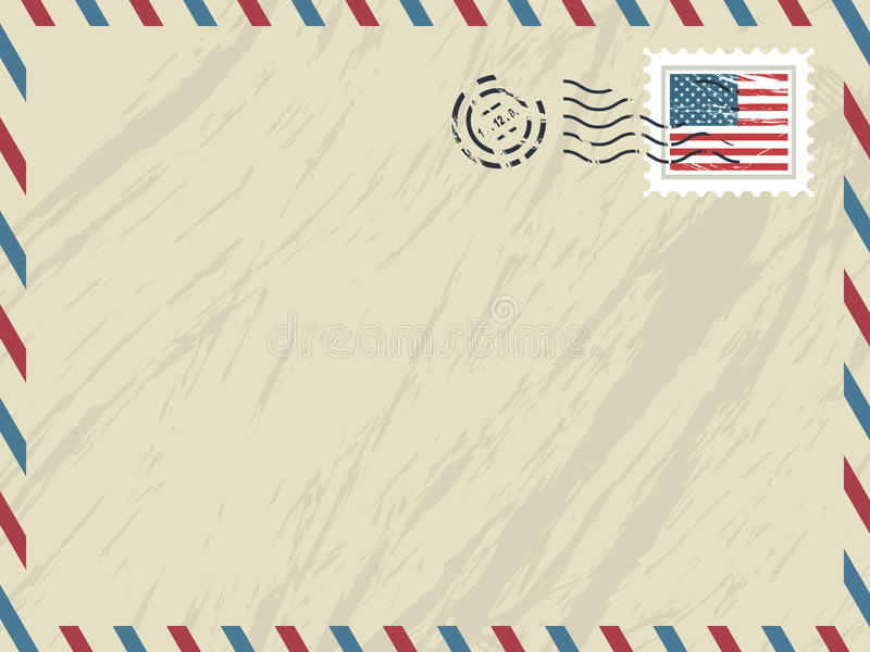 Download American airmail envelope stock vector. Image of delivery - 11889703