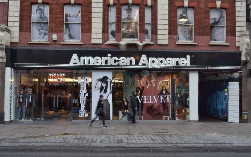 American Apparel immagazzina la via Londra di Oxford fotografie stock libere da diritti