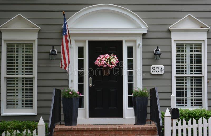 Kentlands Town Maryland porch door royalty free stock photos