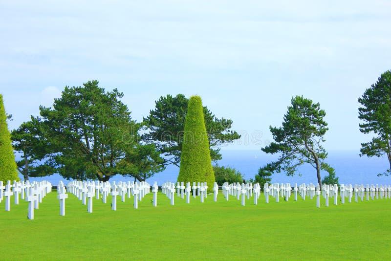 American cemetery of omaha beach in normandy stock photos