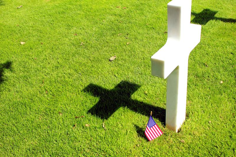 American cemetery of omaha beach in normandy royalty free stock image