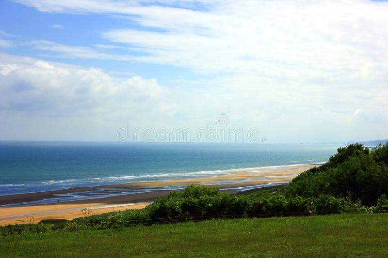 American cemetery of omaha beach in normandy stock images