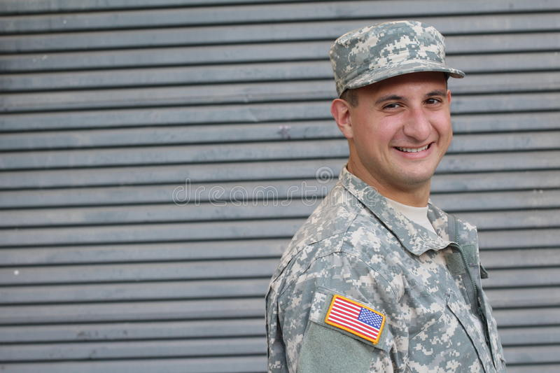 American Army Soldier - Stock image stock photography