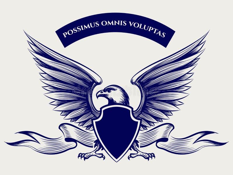 American bald eagle mascot vector illustration