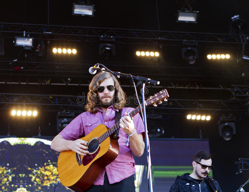 American Band Midlake performs live on stage royalty free stock photos
