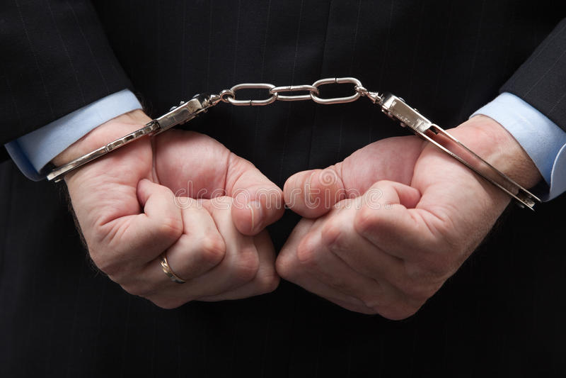 American banker/white-collar crime stock image