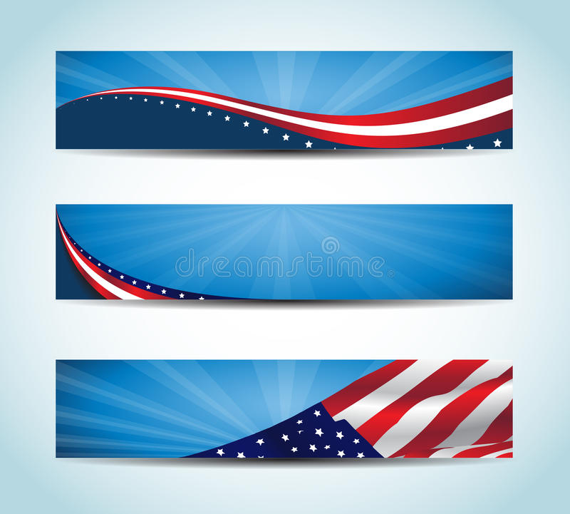 American Banner. Collection of united states flag conceptual banners. / American Banner