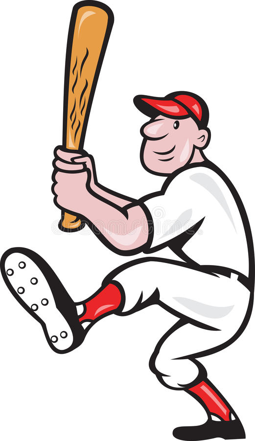 Download American Baseball Player Batting Cartoon Stock Vector - Image: 25894860
