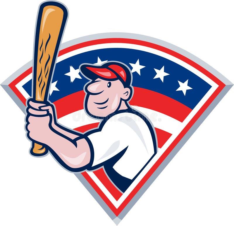 American Baseball Player Batting Cartoon Stock Photos