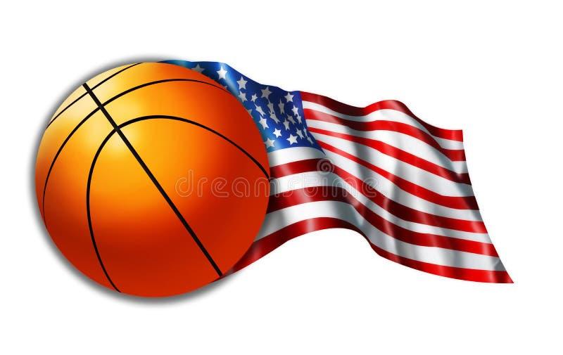 American Basketball Flag Illustration royalty free stock image
