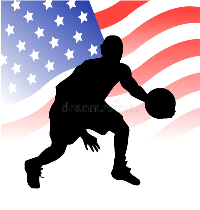 Download American basketball player stock vector. Image of arena - 8136615