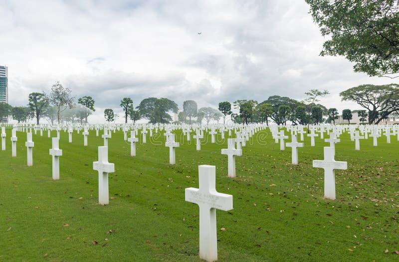 MANILA, PHILIPPINES - FEBRUARY 03, 2018: The American Battle Monuments Commission. The American Battle Monuments Commission. Manila American Cemetery and royalty free stock image