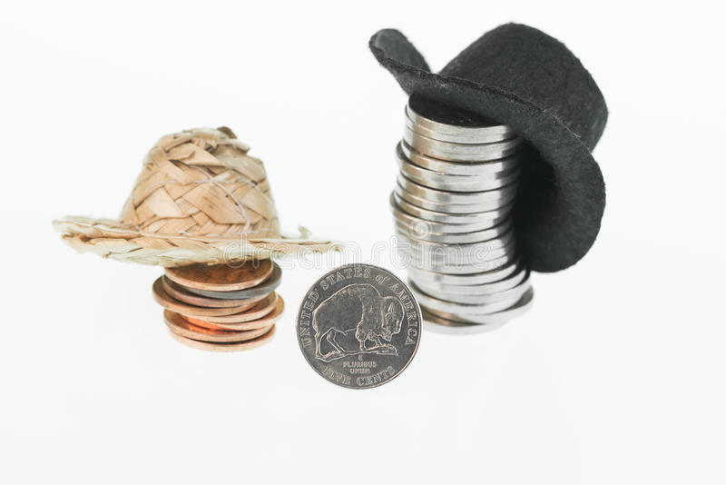 Download American Bison Nickel, Straw Hat, Cowboy Hat And Coins Stock Image - Image: 40691293