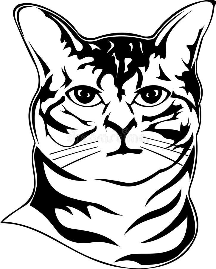 American bobtail portrait stock illustration