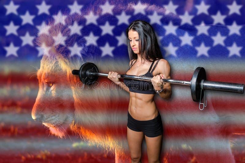 American bodybuilder strength royalty free stock image