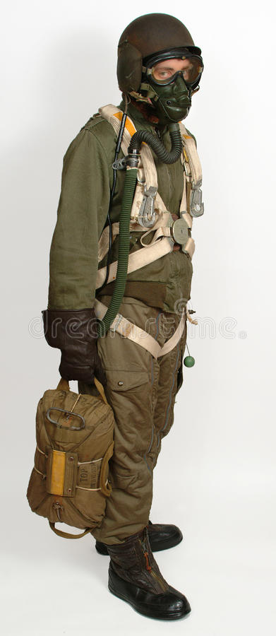 American bomber crewman. WW11 royalty free stock photography