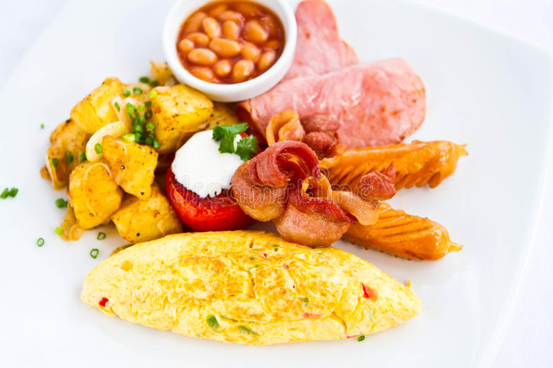 American breakfast royalty free stock images