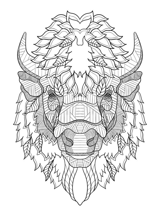 Free American Buffalo Head Zentangle Stylized, Vector, Illustration, Royalty Free Stock Photo - 85763175