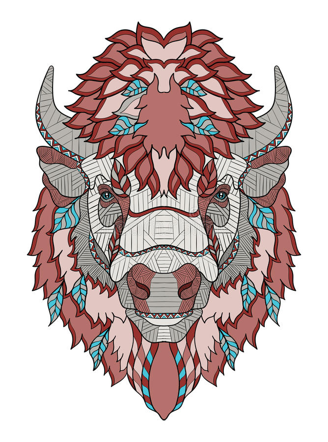 Free American Buffalo Head Zentangle Stylized, Vector, Illustration, Royalty Free Stock Photos - 87682888